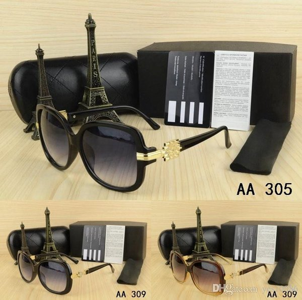 Free Shipping brand men women Sunglasses with origianal box kaka eyeglasses gold Metal logo classical Vintage Glasses for Friends as Gifts