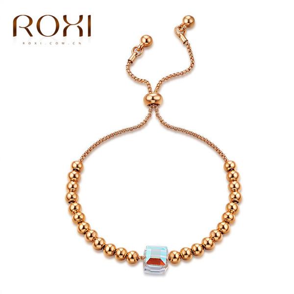 Fashion Rose Gold Glass Stone Bracelet Female Fashion Jewerly