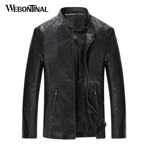 Autumn Winter Fashion PU Leather Jackets Men Thin Jacket Male Coat Quality Korea Style Man Jackets Zipper Outerwear EW1640