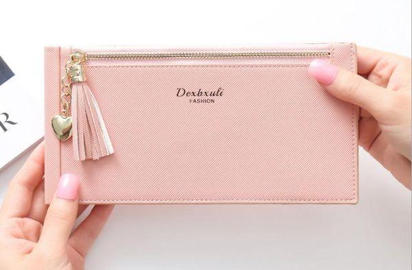 New women's wallet fashion tassel multi-function card package zipper bag mobile phone bag chaopiao18