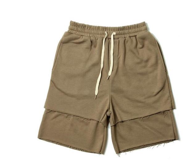 Short d'été pour homme High Street Kanye West Justin Bieber Large poche cordon de serrage Harem Shorts Éponge Souris Casual Hommes Pantalons