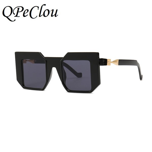 "wholesale 2019 New ""Future"" Concept Square Sunglasses Women Men Modern Sun Glasses Unisex Eyewear Female Shades Oculos De Sol"