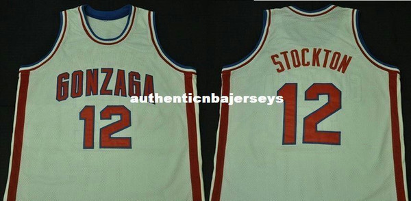 Cheap custom John Stockton GONZAGA BULLDOGS College Basketball Jersey Embroidery Stitched any Number and name