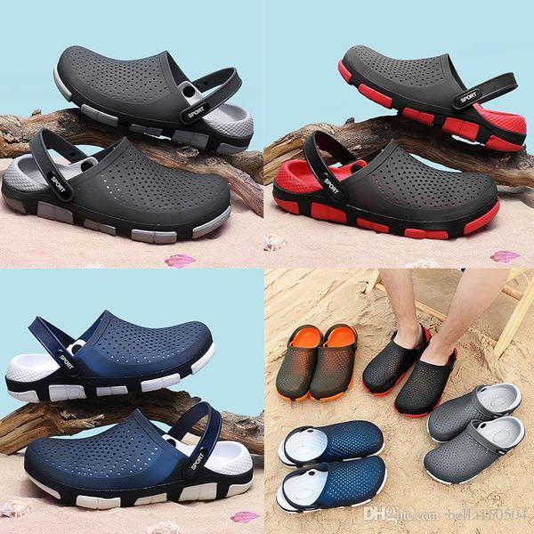 best quality designer sandals Jelly beach shoes men Sandals Casual Shoes Slippers Beach flip-flops Outdoor Slippers Light Weight Sandals