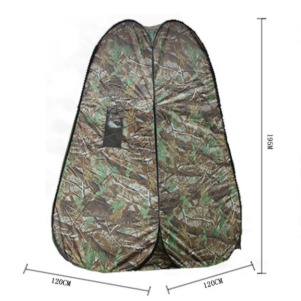 Portable Privacy Shower Toilet Camping Pop Up Camouflage function outdoor picnic shift Bathing dressing tent photography tents