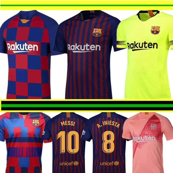 more photos df030 5bbcf 2019 2019 2020 Barcelona MESSI Soccer Jerseys Suárez A.INIESTA DEMBELE  COUTINHO Soccer Shirts Barcelona Football Uniforms WOMEN Man Kids Kits From  ...
