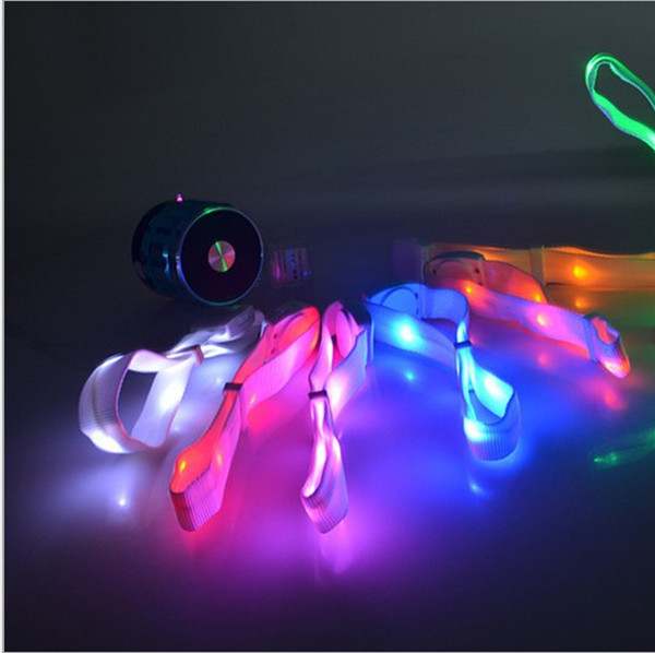 100PCS Sound Activated LED Glow Bracelet Light Up Glowing Wristband for Concerts Party Bars Culb Night Event Decoration lin4583