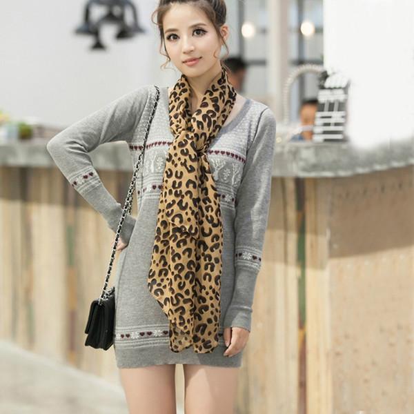 Fashion Women Sexy Long Chiffon Shawl Exquisite High Quality Leopard Print Lady Girl Scarf 160*70cm Spring Summer Autumn
