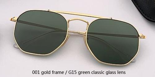 001 الذهب / G15 الخضراء عدسة زجاج الكلاسيكية