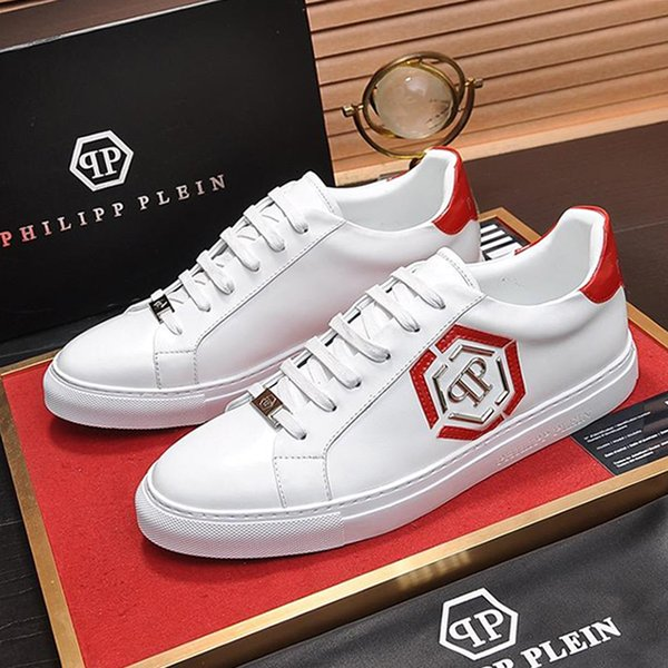 top popular Men Breathable Casual Shoes Lace-up Flats Luxury with Original Box Zapatos de hombre Luxury Design Herrenschuhe Hot Sale Casual Men Shoes 2019