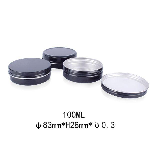 Lattine 100ml Nero Alluminio Contenitori Vasi 100g cosmetici DAB strumento di archiviazione delle Cere di latta del metallo Box 100 ml g di trucco olio Derocation Mestieri Bottiglie