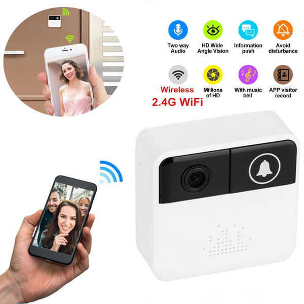 Smart Home Wifi Visual Ring Video Camera Doorbell Wireless HD Ring Night Vision Security System Automation Modules Homekit