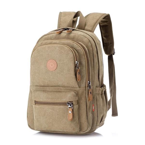 Vintage Canvas Backpack Women Men Large Capacity School Bags Collage Student Travel Backpack Designer Laptop Backpacks Mochila