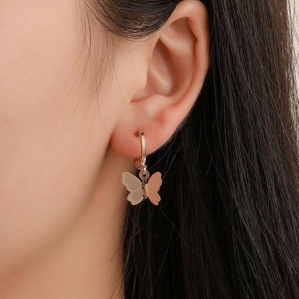 Kadınlar Için sevimli DIY Kelebek Küpe Böcek Küpe Takı Kızlar Için Kawaii Altın / gümüş Renk Metal Küpe Jewellry hediyeler