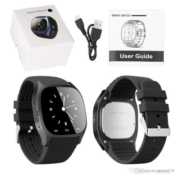 NUEVO M26 SmartWatch inalámbrico Bluetooth Reloj inteligente Usable Sync Llamadas telefónicas Reloj inteligente Reloj deportivo Reloj Anti-perdida Alerta con paquete al por menor