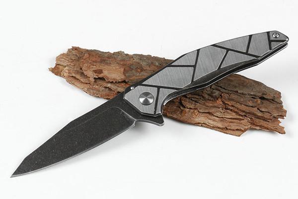 Haute Qualité Kershaw 1735 Assisté Ouvert Ouvert Flipper Pliant Couteau 8Cr13Mov Noir Pierre Lame De Lavage Manche En Acier EDC Vitesse