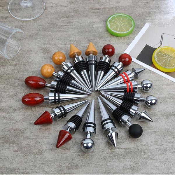 9 Style Bottle Stopper for Reusable Bar Kitchen Vacuum Sealed Red Wine Bottle Stopper