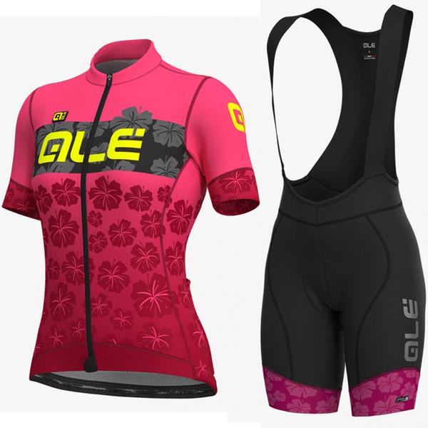 ALE Takım kadın Bisiklet Kısa Kollu Jersey Önlüğü Şort Setleri Yeni 2019 Bisiklet Giyim Hızlı Kuru Giyilebilir Nefes şort setleri