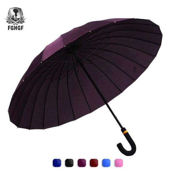 FGHGF 24K Magia Alterar Padrão Flores longa-handle Oversized Umbrella Extra Large Tamanho Windproof Big Mulheres Homens Paraguas