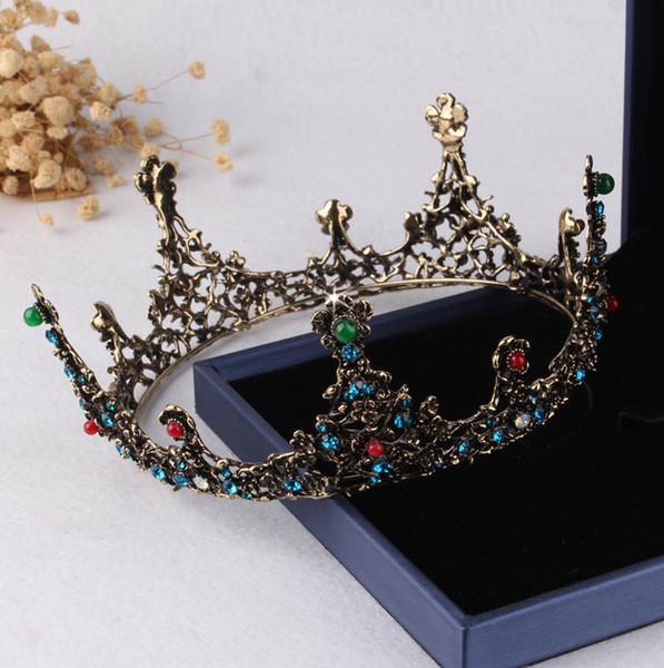 Bronze Baroque Crystals Bridal Tiaras Crowns Bridal Headpieces Bridal Accessories Wedding Tiaras/Crowns T301479