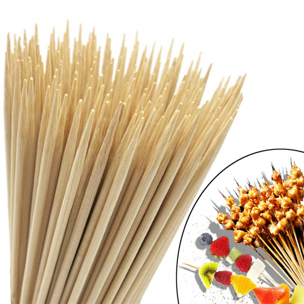 FDA Approved Disposable Barbecue Tool BBQ Bamboo Skewer Best Quality Marshmallow Roasting Sticks 10inch