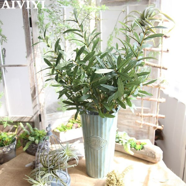 Artificial flower olive branch family decoration wedding anniversary bouquet wall plant wall fake flower