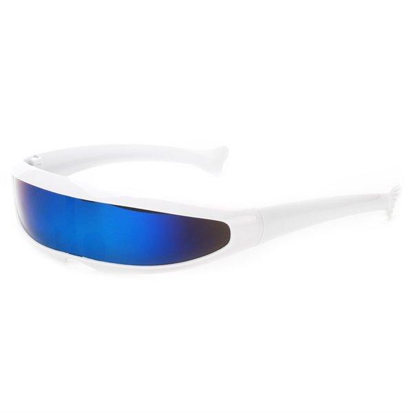 weiß - blaue Linse
