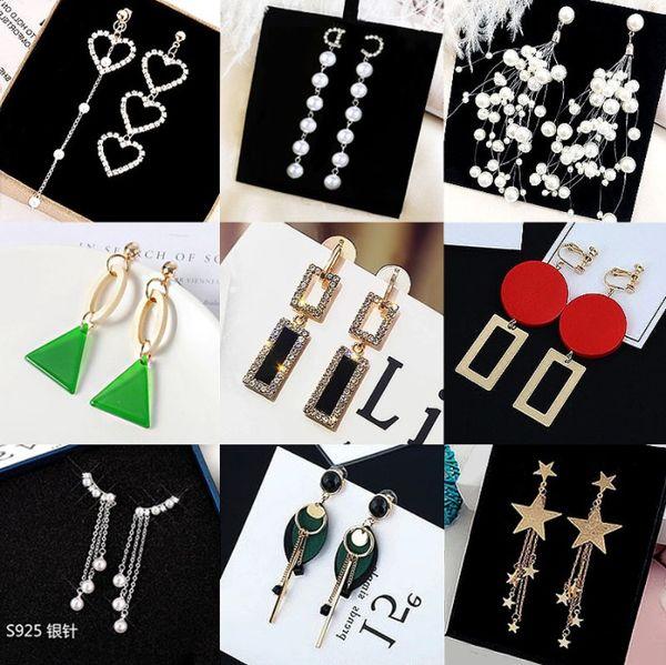 Moda Orecchini nappa Temperamento Diamante 925 Orecchini pendenti lunghi in argento Orecchini femminili