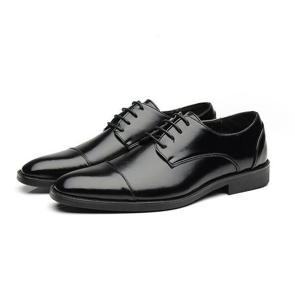 Yeni iş elbise ayakkabı erkek ekstra büyük boy deri ayakkabı erkekler