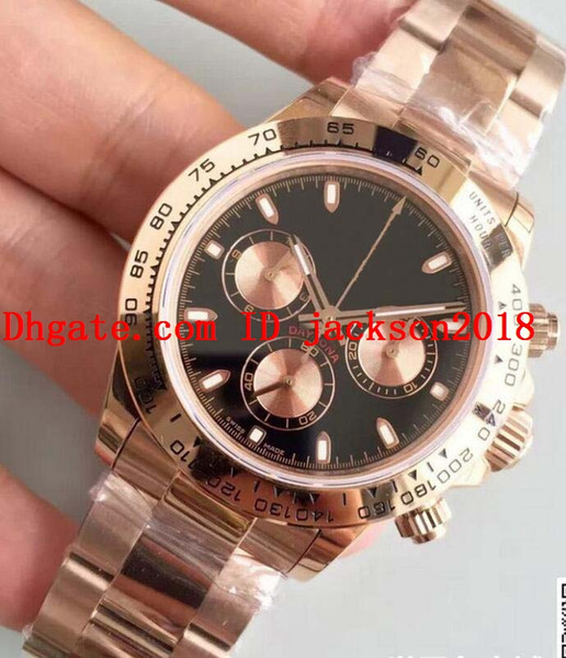 Free Shipping Luxury Edition 40mm Fashion Watch Cosmograph 116503 116523 116615 18k Rose Gold Chronograph Swiss CAL.4130 Movement Automatic