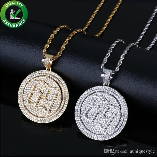 Iced Out Pendant Hip Hop Luxury Designer Jewelry Mens Diamond Rapper 6ix9ine Pendants for Men Women Kids with Rope Chain Rock Fashion