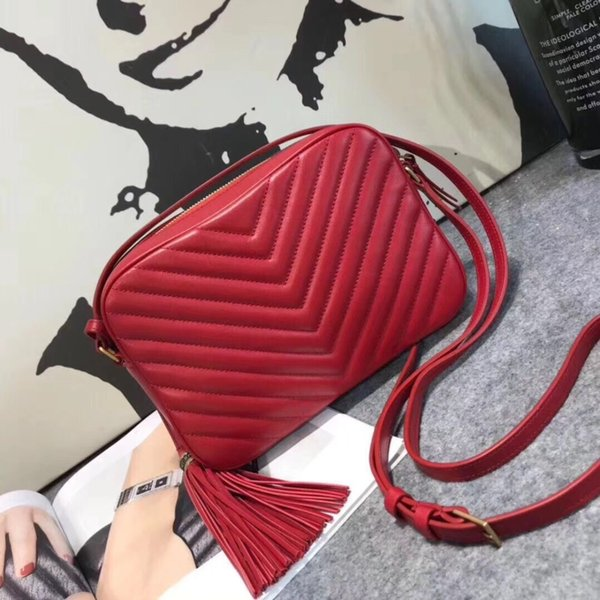 Oil wax V pattern Shoulder Bag cowhide Cross Body Totes Top luxury handbags women bags designer famous brands leather quality