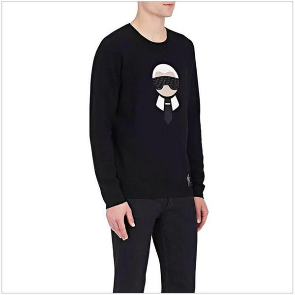 2019 uomini nuovi designer di colore solido maglioni di marca girocollo pullover lafayette in rilievo maglione uomini cartone stampato top clothings