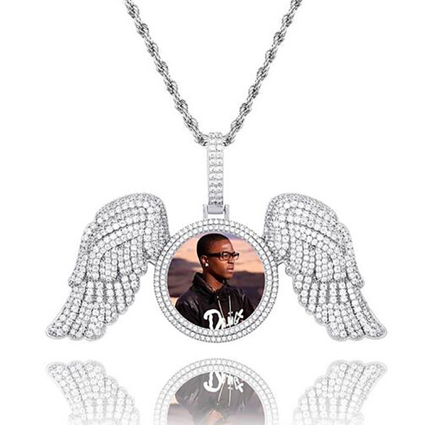Silver Diamond Wings+Rope Chain