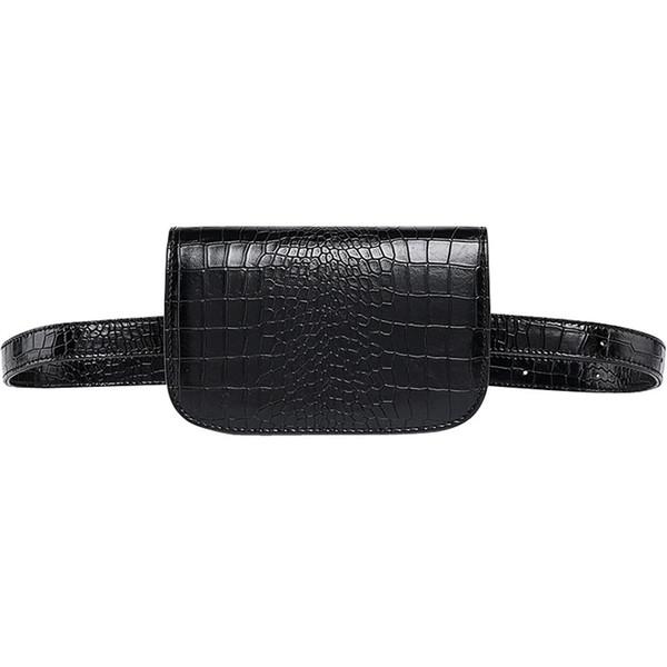 New Design PU Sling Bag Chest Shoulder Backpack Fanny Pack Lady Crossbody Bags for Men(Black)