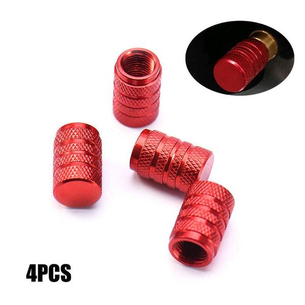 4 unids / set Rojo Nueva Rueda Neumático Neumático Vástagos de la Válvula de Polvo de Aire Tapas de Tornillos para Auto Truck
