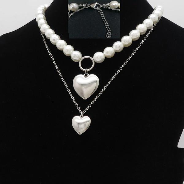 Moda Ouro Sliver Stainless Steel pérola shell pingente brincos Set Praty Para Gilr presente Noble Estilo For Women jewely Set