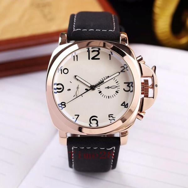 Pelle orologi automatici uomini orologi di modo meccanico di alta qualità 5 di stile degli uomini di lusso della vigilanza con la scatola