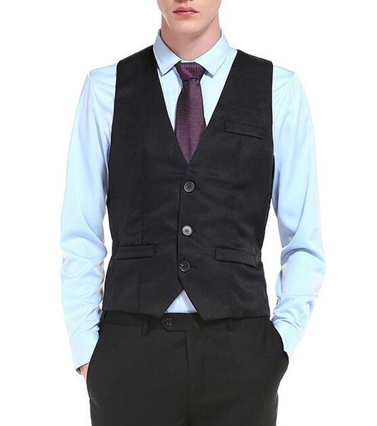 2019 New Men Suit Vest Gilet Homme Fashion Business Casual Wedding Marriage Slim Fit Mens Vests Single Breasted Men Waistcoat From Matilian 7299