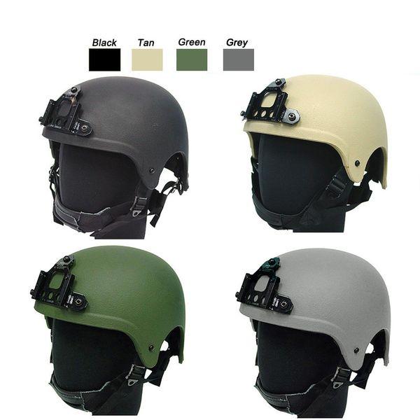 Equipaggiamento outdoor Airsoft Paintabll Casco da tiro Head Protection Gear ABS IBH Style Helmet Tactical Airsoft Helm