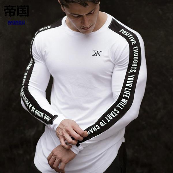 3db7985da2e New Men Running Sports Shirt Gym Fitness Compression Quick Dry Skinny T  Shirt Male Jogging Training Tee Tops Crossfit Sportswear