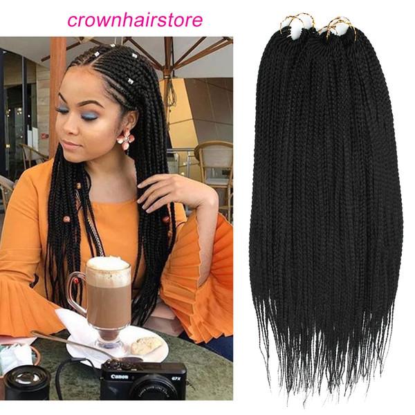 2019 22 Box Braids Crochet Hair Small Synthetic Hair Extensions Dreadlocks Twist Crochet Braids Hairstyles Kanekalon Braiding Hair Braid Styles From