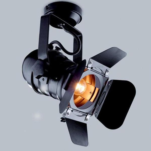 Промышленный светодиодного трек черного театра огней с 4-листом дверью сарая регулируемыми рельсовыми лампами для студии магазина шторки прожекторов LLFA