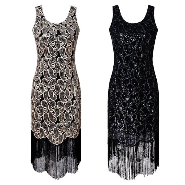 Wear Women's Quality Gatsby Sequin Sequins Evening Dress Female