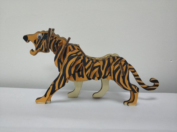 best selling The lovely 3D wooden tiger model is worth having