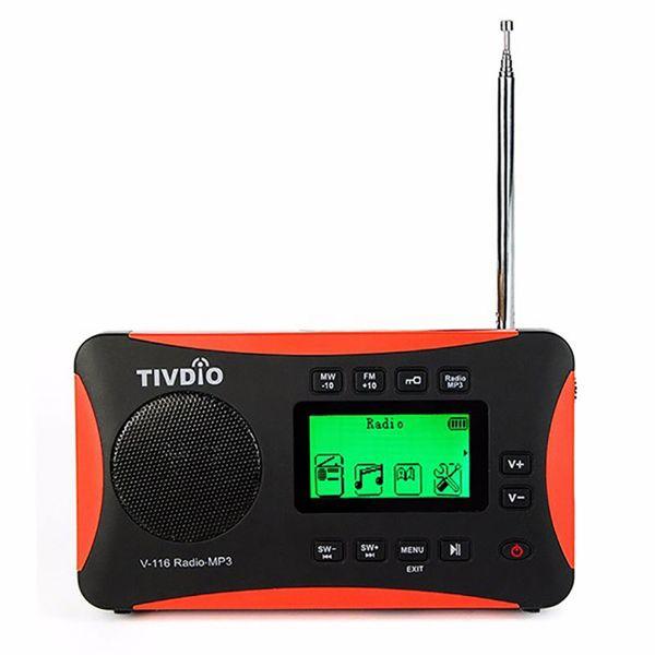 Taşınabilir Kişisel Transistör FM / AM Radyo, Micro SD / TF Kart AUX MP3 Çalar Çalar Saat