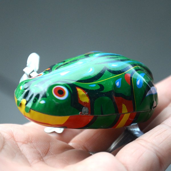 Classic Mini Wind-up Toy Frog Clockwork Kids Baby Lovely Colorful Fun Newborn Kids Early Educational Spring Children Baby Toys