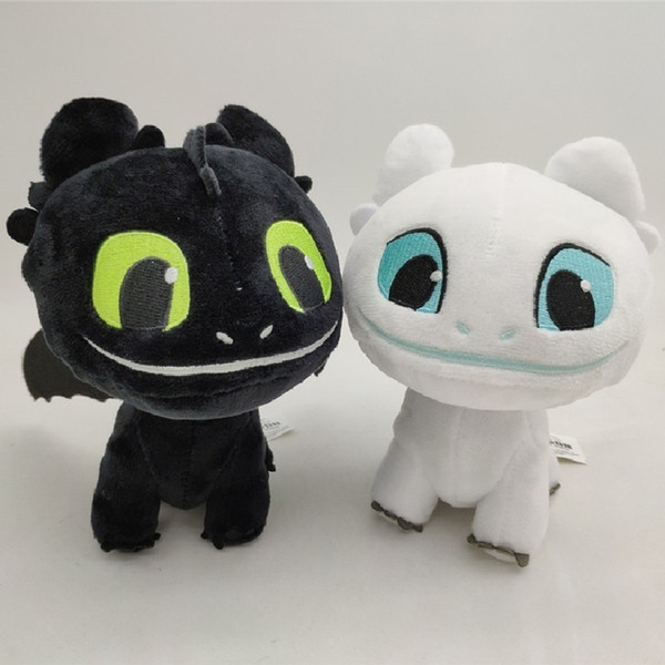 16cm How to Train Your Dragon 3 Plush Toy Toothless Light Fury Soft Dragon Stuffed Animals Doll 2019 New Movie 2 Colors MMA1686
