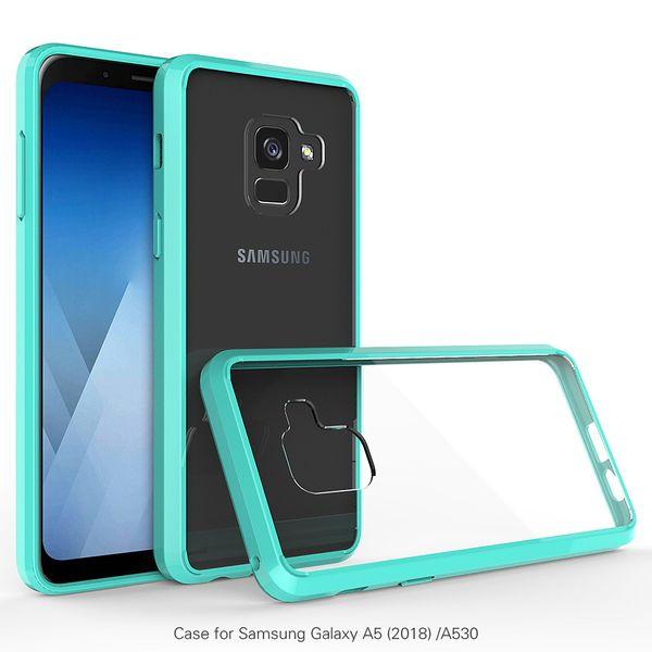 Acrylic Transparent Clear Hybrid Rugged Case for Samsung Galaxy S8 S9 Plus J7 A5 2017 J3 Pro A8 2018 Bumper Cover Anti-Scratch