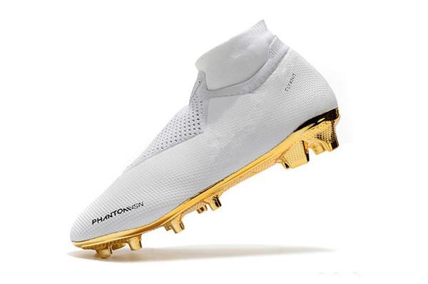 Compre NIKE 2019 Recién Llegado De Oro Blanco Zapatos De Fútbol Al Por Mayor Ronaldo CR7 Zapatos De Fútbol Originales Phantom VSN Elite DF FG Botas De